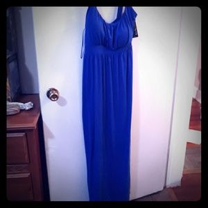 Kim Roger's PL blue Maxi Dress NWT